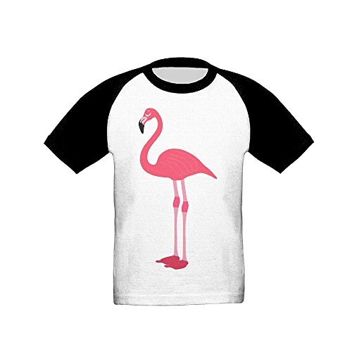 Saroyo Pink Flamingo Baby Raglan T-Shirts 100% Cotton Baseball Short Sleeve Tee 5-6 Toddler