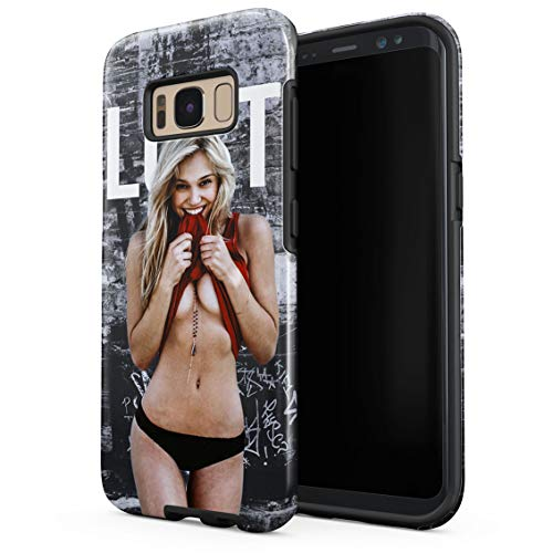 Lust Hot Blonde Naked Model Girl Double Layer Hard PC Armor & Shock Absorbing TPU Tough Cover Shell for Samsung Galaxy S8 Plus