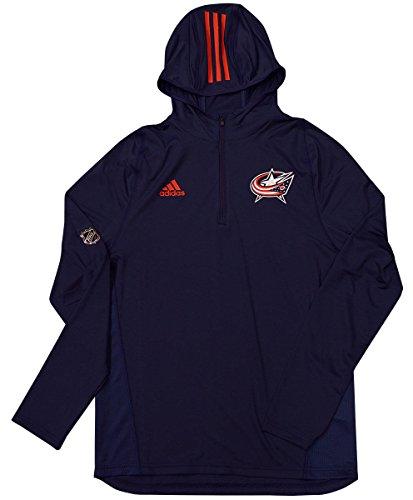 adidas Columbus Blue Jackets Authentic NHL Training Hoody (Medium)