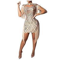 Lazapa Lady Fashion Sexy Sequins Fringe ...