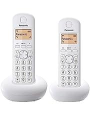 Panasonic KX-TGB212 - Teléfono fijo inalámbrico Dúo (LCD, identificador de llamadas, Intercomunicación, agenda de 50 números, tecla de navegación, alarma, reloj), Blanco, TGB21 Duo