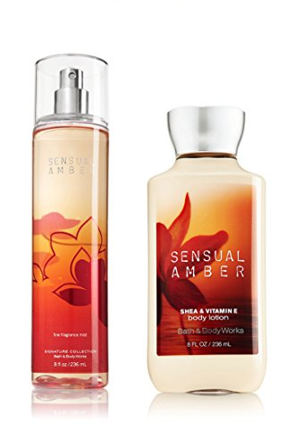 Bath Body Works Sensual Amber Body Lotion and Mist Fragrance Set