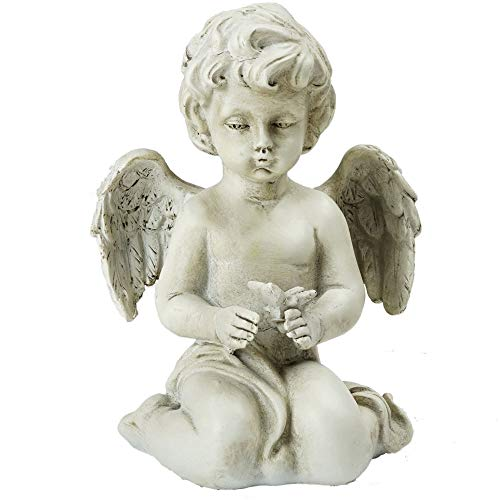 Northlight Sitting Cherub Angel Decorative Outdoor Garden Statue, 6.5