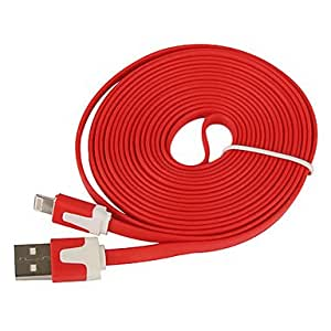 Nsaneoo - Lightning 8Pin Colorful Charge and Data Flat Cable for iPhone 5,iPad Mini,iPad 4,iPod (300cm-Length) , Blue