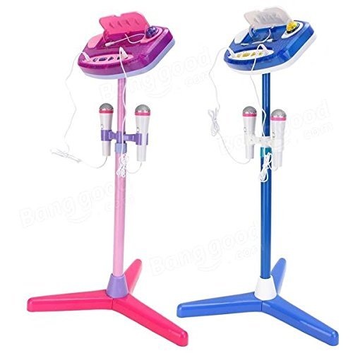Adjustable Stand With 2 Microphones Karaoke Music Toys for Kids - Musical Instruments Pro Audio Equipment - (Pink) - 1 x Stand Sets, 1 x Control Panel, 2 x Microphones by Unknown (Image #3)