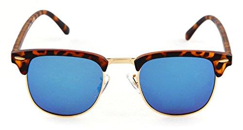 Oath _ Lied half-frame Metallrand goldfarbenem Nieten Wayfarer 49mm Sonnenbrille, Schwarz