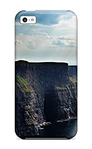 Anti-scratch And Shatterproof Cliff Phone Case For Iphone 5c/ High Quality Tpu Case