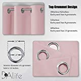 Baby Pink Curtains 45 Inch Length for Kids Room