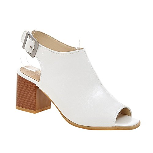 Milesline Fashion Women's Leather Peep Toe Open Back Bootie