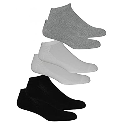 Calvin Klein 6-Pack Cushioned Men's Trainer Socks, White/Grey/Black