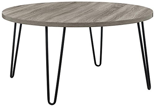 Ameriwood Home 3615307COM Owen Retro Coffee Table (Rustic Round Table Coffee)
