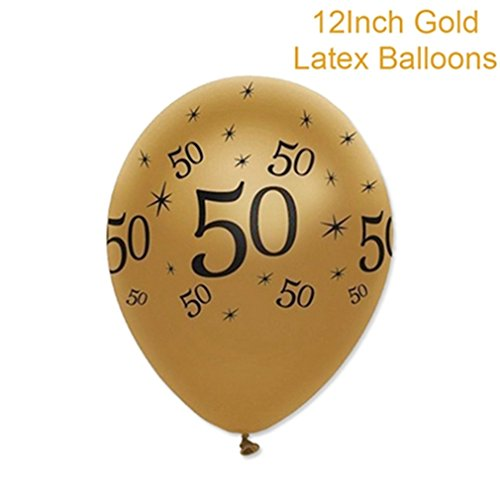 30 40 50 60 Happy Birthday Confetti Decoration Gold Numbers Party Table Scatter Adult Birthday Party Balloons Decor 5pcs gold 50 -