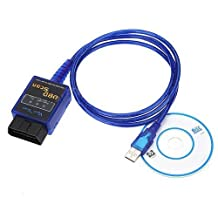ElementDigital(TM) Premium Nice Elm327 USB Interface Obdii/OBD2 Auto Scanner Vehicle Diagnostic Code Reader V1.5(Blue)