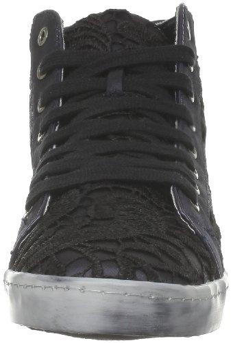 Colors of california - Zapatillas de deporte de tela para mujer Negro (Noir (Black))