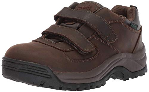 Propet Men's Cliff Walker Low Strap Ankle Boot, Brown Crazy Horse, 10.5 3E US Brown Crazy Horse Footwear