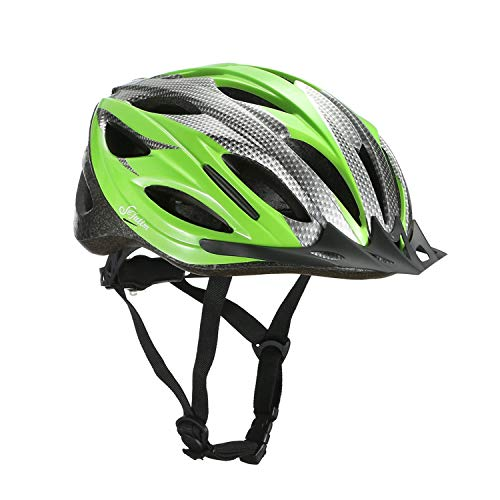Sefulim Specialized Cycle Helmet Adult Racing Bike Cycling Helmets Adjustable Size for Girls Boys Spectacle-wearers Green