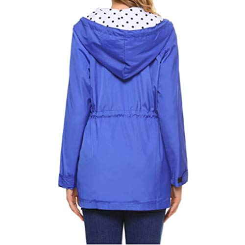 Donne Coat Lunga Cappuccio Packable Casual Blu Manica Fangcheng Impermeabile Con Outwear Wind Leggero pwdHpqB