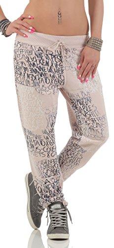 malito Sweatpants mit Schriftzug Baggy 3570 Damen One Size