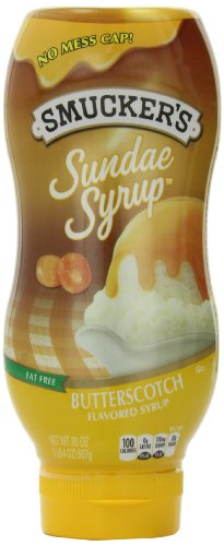 Smucker's Sundae Syrup Butterscotch Flavored Syrup, 20 Ounce (Pack of 12)