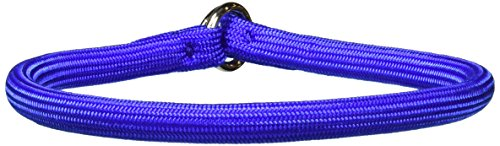 Coastal Pet Products Round Nylon Blue Choke Collar for Dogs, 3/8 By - Choke Nylon Collar