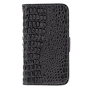 Buy Crocodile Skin with Card Solt and Matte Back Cover Full Body Case for iPhone 3G/3GS (Assorted Colors) , Black