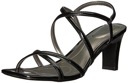 Bandolino Womens Obexx Heeled Sandal Black Synthetic