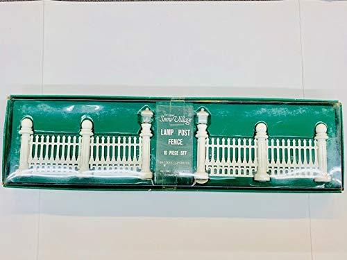 Department 56 Snow Village Lamp Post Fence Set/10