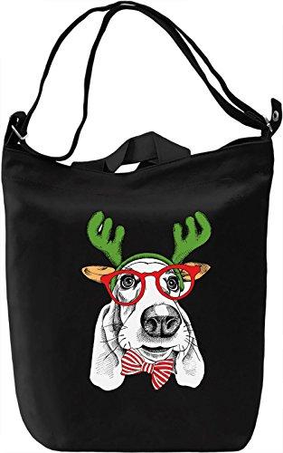 Christmas Dog Borsa Giornaliera Canvas Canvas Day Bag| 100% Premium Cotton Canvas| DTG Printing|