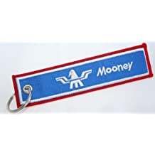 Mooney Pilot Aviation Key Chain - Mooney Aircraft - Woven High Quality Key Tag - Aircraft Airplane Mooney