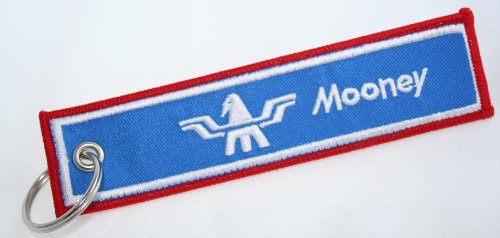 Mooney Pilot Aviation Key Chain - Mooney Aircraft - Woven High Quality Key Tag - Aircraft Airplane Mooney - Mooney Airplane