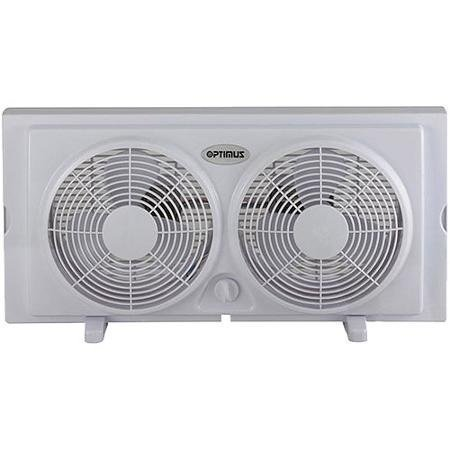 Optimus 7'' Twin Window Fan FNOP5280, No Tools Required for Installation, Durable, Easy to Carry and Safe for Children
