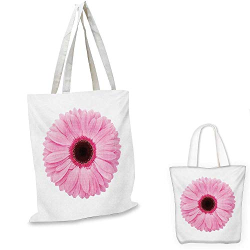 s messenger bag Fresh Gerber Daisy Garden Plants of Spring Growth Single Flower Image canvas beach bag Pale Pink White. 16