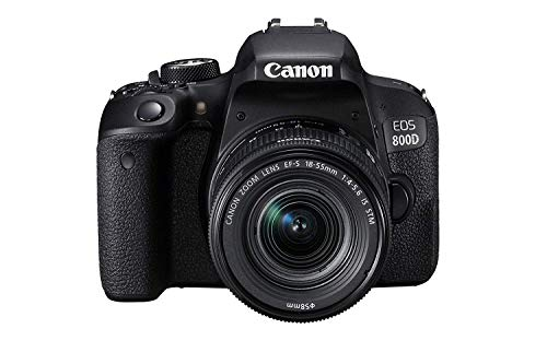 Canon EOS 800D 24.2MP Digital SLR Camera + EF-S 18-55 mm is STM Lens + 16GB Memory Card + Carrycase 2