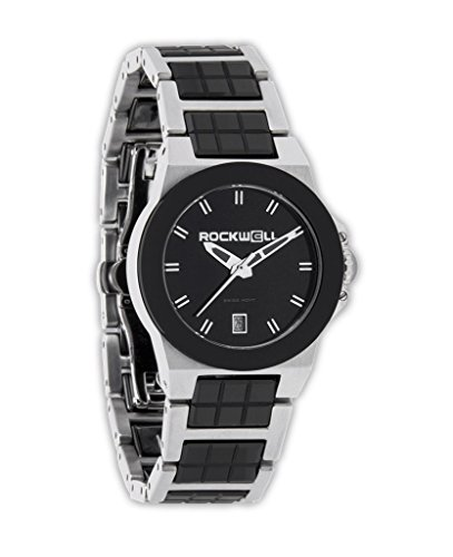 Rockwell Time Women's Katelynn Watch, Silver/Black Ceramic by Rockwell Time