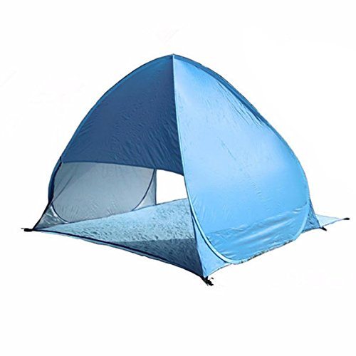 1set Full Automatic Tent blue beach tent festival shelter childrens UPF 40 sun screen wind break fishing garden quick open tent