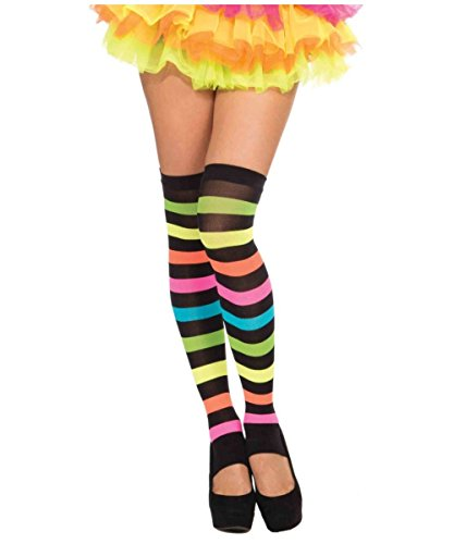 Womens Striped Rainbow Costume Stockings