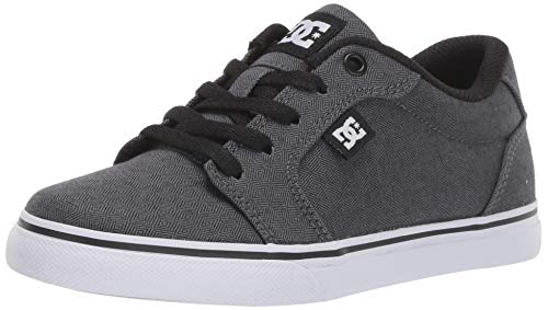 DC Boys' Anvil TX SE Skate Shoe, Black/Armor, 5.5 M M US Big Kid