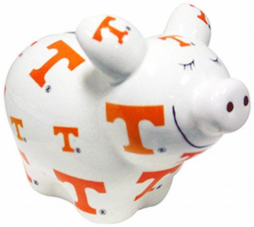 (NCAA Tennessee Volunteers Piggy Bank with All Over Logo)