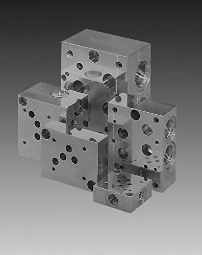 Aluminum valve subplate, D03 dual ported, with sun relief T-10A, -6 SAE ports