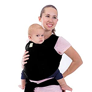 Baby Wrap Carrier – All in 1 Stretchy Baby Sling – Ergo Carrier Sling – Baby Carrier Wraps – Baby Carriers for Newborn…