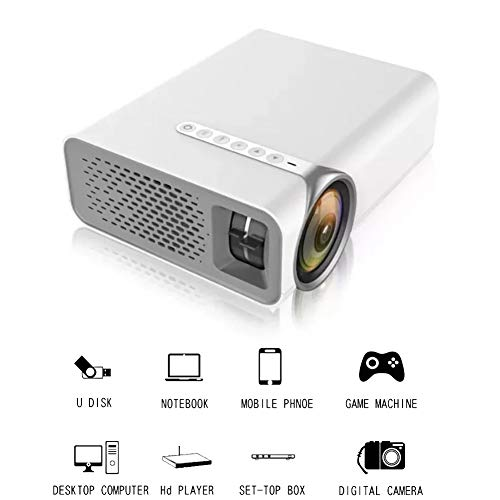QLPP HD Projector Connect to Smartphone, 130 Zoll Projection Größe LCD Home Theater Support 1080P AV USB HDM VGA SD für…