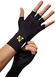 CopperJoint Fingerless Compression Gloves – Copper-Infused Designed to Support Your Hands - Rapid Recovery and