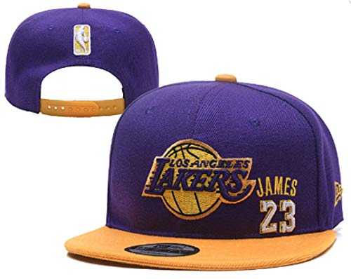 LAbron James #23 Los Angeles Basketball Team Snap-Back Hat! Purple and Yellow Themed Baseball Cap!