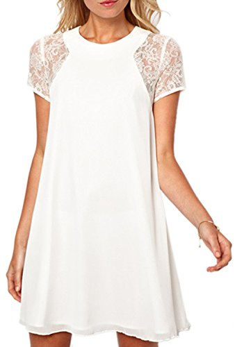 ABUSA Womens Dresses Casual Summer Special Occasion Lace Chiffon Wedding Dress - Clearance
