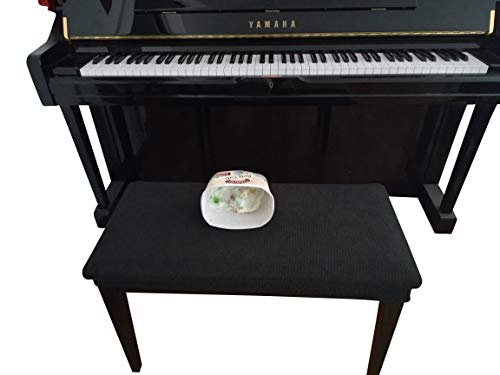 Qualitrusty Waterproof Piano Bench Cover - Perfect For Pets, Kids, Elderly, Weddings, Parties - Machine Washable, Elastic, Removable - Cleans Easily (Covers Custom Piano)