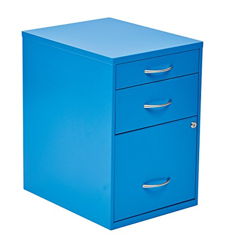 OSP Designs HPBF7 Pencil, Box and Storage File Cabinet, 22-Inch, Blue by OSP Designs