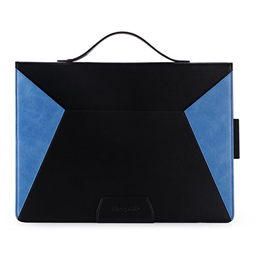 9 Case with Card Slots - PU Leather Business Folio Style Case Cover for New iPad Pro 12.9 Inch 2017/2015 with Magnetic Auto Wake/Sleep Feature (Blue) ()