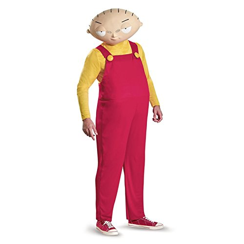 Family Guy Costume, Mens Stewie Deluxe Outfit, X-Large, Chest 42 - 46