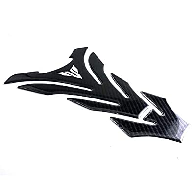 Universal Real Carbon Fiber Motorcycle Tank Pad Gas Oil Fuel Tank Pad Vinyl Decal Tank Protector Motorcycle Stickers For Yamaha All Models: Automotive