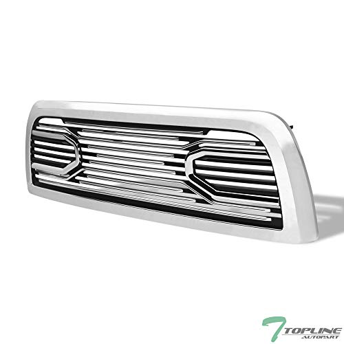Topline Autopart Chrome Big Horn Style Front Hood Bumper Grill Grille ABS with Shell For 10-18 Dodge Ram 2500/3500 / 4500/5500 ()